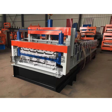 Double+Deck+Steel+Roof+Board+Roll+Forming+Machine