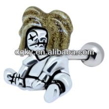 Joyería animal del perno prisionero del oído del zombi del oro del pendiente de la venta caliente