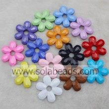 Supply 45MM Crystal Plastic Blossom Flower Beads