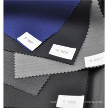 Hot sale blue worsted wool polyester blended plain fabric for suit uniform