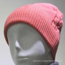 Haute quanlity gros personnalisé femmes hiver bonnet tricoté