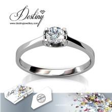 Destino joyería cristalina de la atención brillante anillo de Swarovski