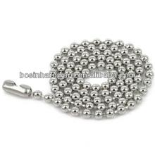 """Moda de alta qualidade metal 22 """"aço inoxidável bola cadeia colar"""