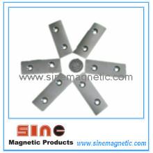 Kundenspezifische Zwei-Loch-Senklöcher NdFeB Magnet