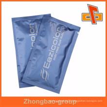 Composite Foil Liuid Sample Blue Bleach Sachet With Tear Notch In China Factory