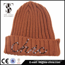 Outono Inverno Mulheres Chapéus Lovely Lady Caps Knitted Beanie Quente