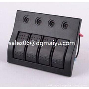 Waterproof 4 Gang LED Carling Rocker Switch Panel Circuit Breaker Switch