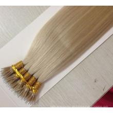 Doppelte gezeichnete Nano-Ring-Haar-Verlängerungen # 60 italienische Keratin-Nano-Haar-Erweiterung