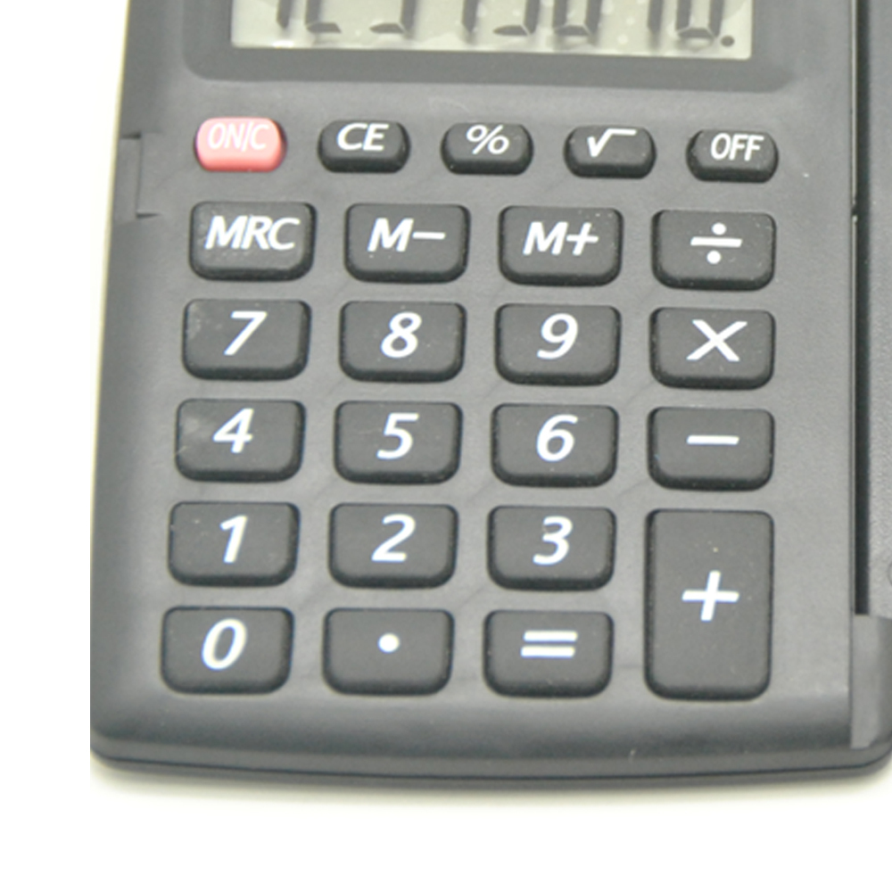8 Digit Foldable Pocket Calculator with Cover