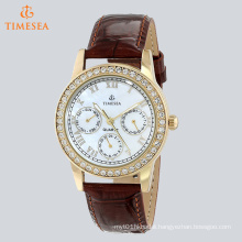 Women′s Gold-Tone Crystal Accented Multi-Function Watch 71272