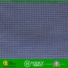 Ripstop полиэстер Пряжа окрашенная ткань для мужской накладки или рубашка