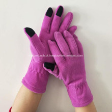 Luvas de lã de tela de toque móvel