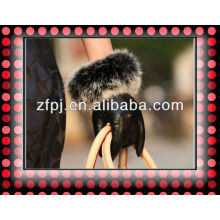 Ladies warm Wholesale Leather Hand Gloves