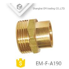 EM-F-A190 Schnellkupplung Messing Außengewinde Rohrverschraubung für PVC-Rohr