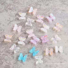 Wholesale 8 pcs Colorful Butterfly Nail Art Rhinestones Acrylic Nail Stones Flat Back Shiny Tips 3D Nails Art Decorations