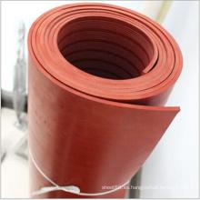 Alfombra de goma de aislamiento térmico rojo para colocar