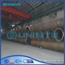 Tubo in acciaio inox a spirale rotonda