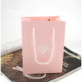 Pink cardboard jewelry boxes for necklaces