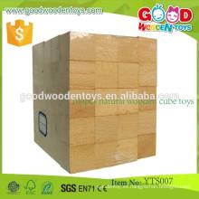 2015 Venta caliente de madera de juguete cubo de madera de juguete Cube Puzzle 100 piezas de madera natural de cubo juguetes