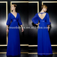 NY-1973 chiffon a-line with charmeuse trim mother dress