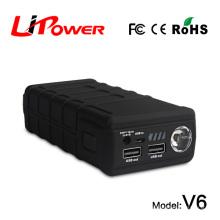 600A courant de pointe 20000mAh 12v amplificateur de batterie au lithium 12v démarrage du saut avec câble de jumper