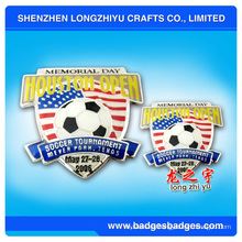 Metal insignias de fútbol de fútbol (LZY-000063)