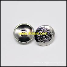 Haute brut bouton de tige Nickel brillant avec logo de bateau