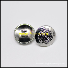 High Gross Shiny Nickel Shank Button with Vessel logo