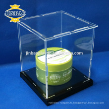 Jinbao 10x10cm 3mm affichage acrylique boîte plexiglass taille personnalisée