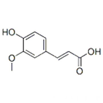 2-Propenoic acid,3-(4-hydroxy-3-methoxyphenyl)-,( 57187851,2E)- CAS 537-98-4