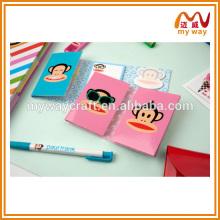 Papéis de papelaria bonitos da série dos macacos dos desenhos animados de notas pegajosas das crianças
