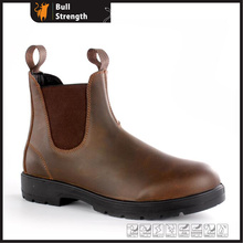 Dark Brown Crazy Horse Leather Chelsea Boot Without Toe (SN5450)
