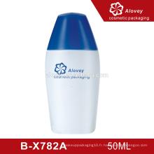 Vente chaude de bouteilles de cosmétiques en plastique pour soins de la peau