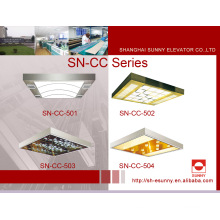 Techo del coche del elevador con el panel superior de acrílico (SN-CC-501)