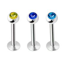 Único G23 Titanium Lip Piercing Jóia De Cristal Prong Top Labret Lip Anel Studs