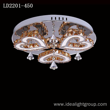 steel chandelier crystal led lamp luxury hotel chandelier
