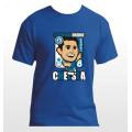 2014 new EPL club team Chelea soccer fan Lampard cartoon t-shirts