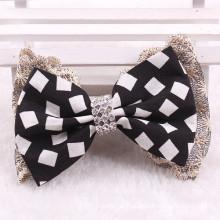 DIY Grid Bowknot Hair Clip Bow (BOW-18)
