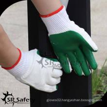 SRSAFETY 10G industrial rubber glove/rubber garden gloves/rubber coated cotton glove