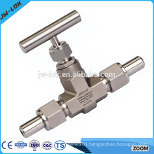 Gas swagelok type two way straight needle valve