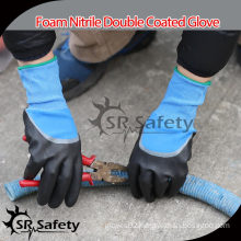 SRSAFETY 15G Knitted Foam Nitrile Safety Work Gloves making machine