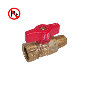 NSF lead free brass gas ball valve for USA market MXF
