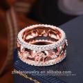 Melhor preço de alta qualidade por atacado fabricante de jóias preço barato atacado cz anel de casamento anel de ouro