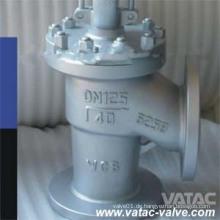 Schräg / Y Typ A216 Wcb Flansch Globe Ventil