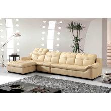 Muebles para el hogar moderno, sofá de cuero de forma L (B. 889)