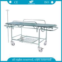 AG-HS015 Escalade bon marché en acier inoxydable Prix de la civière d'hôpital
