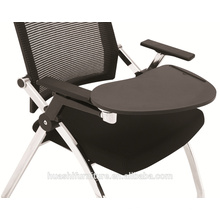 T-083 nouveau design empilable chaise de formation avec tablette