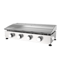 Four Burner Stainless Steel Gas Plancha