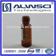 2014 2ml 8-425 autosampler Screw Thread amber glass Vial with label for HPLC analytical