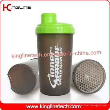 700ml plastic protein shaker bottle with lid (KL-7034D